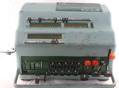 Rare First model of semi-automatic soviet adding machine VK-2 copy FACIT EA 1976