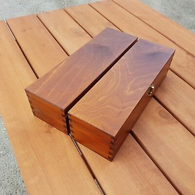Set Two Wine Wooden Box,  Plain Wood, In Brown Colour