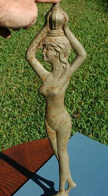 Unusual Large Antique Cast Iron Nude Woman - Part of Some Type of Yard Art?