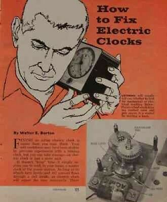 Electric Clock Vintage Repair/Cleaning 1960 How-To INFO