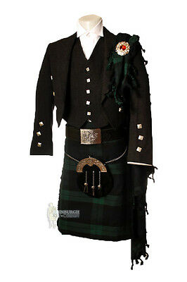 Deluxe Fly Plaid For Kilt Outfits - Scottish Tartan - Black Watch