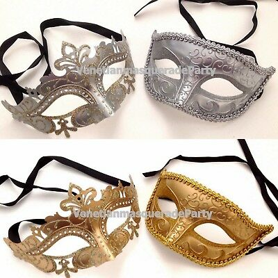 Luxury Royal Gold Silver Eye Mask for Couple wedding costume Masquerade Cosplay