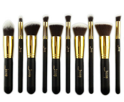 10pcs Makeup Brushes Set Powder Foundation Eyeshadow Eyeliner Brush Jessup US
