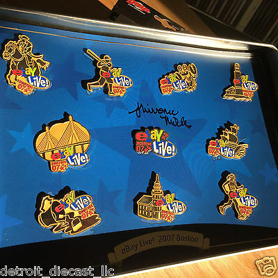 2007 Ebay Live Boston Gold Pin Collection Autographed by Artist Miller 101/200