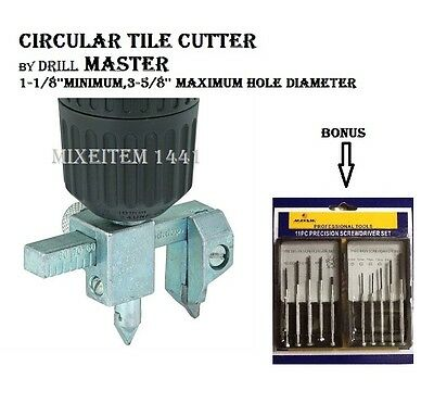 CIRCULAR TILE CUTTER For Ceramic Marble /Concrete/ Backer Board/ Lights/Fitting.