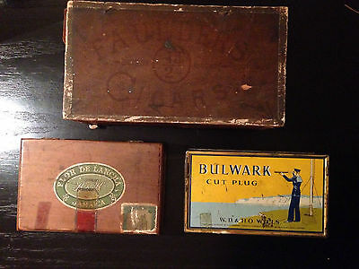 Vintage Cigarette Cigar Tobacco Boxes Collection Joblot