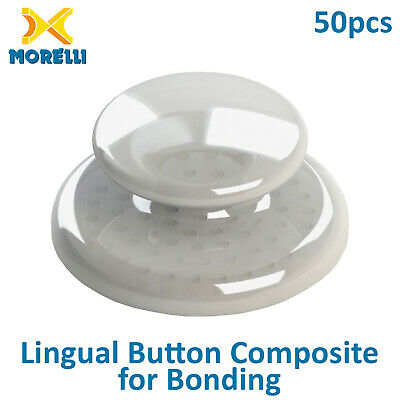 50 Dental Orthodontic Transparent Composite Lingual Buttons Aesthetic Threatment