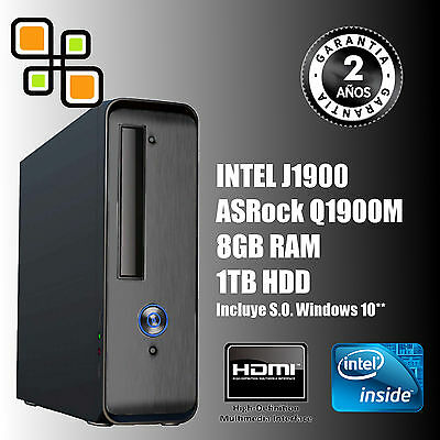 Ordenador PC Intel Quad Core 9.6GHz + 8GB RAM + 1TB HDD (HDMI)