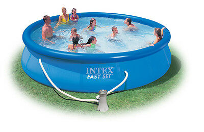 INTEX PISCINA EASY SET AUTOPORTANTE POMPA FILTRO CM. 457x84h