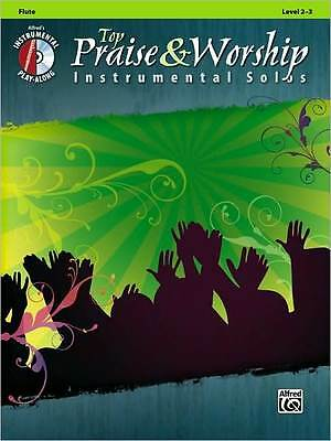 Top Praise & Worship Solos Flute Song Book + Cd New