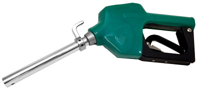 Wolflube Green Automatic Nozzle for Fuels with Hook - Spout Ø 0.83in - 11GPM