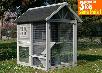 GRAND CLAPIER LAPIN-CAGE LAPIN-FURET-COCHON D'INDE ''HOUSE ANIMALS'' Réf AS4420