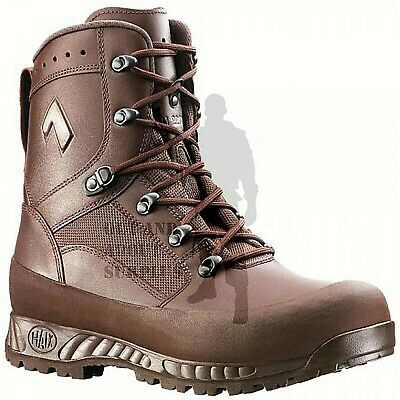 Mens HAIX Combat High Liability Boots British Army Issue Brown Leather Cadet
