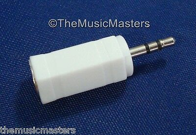 "1/8"" 3.5mm Female Jack to 2.5mm Male Plug Stereo Headphone Audio Adapter VWLTW"