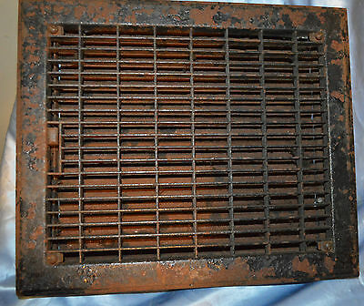 "Vintage Metal 13.5"" X 11.5""  Floor Vent Register"