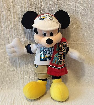 "9"" Plush Mickey Mouse Disney Cruise Line 2006 Bean Bag"