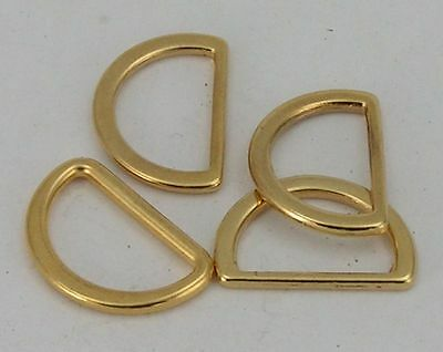 8 D-rings flat Colour gold 15mm (20x14mm) 04.58/051