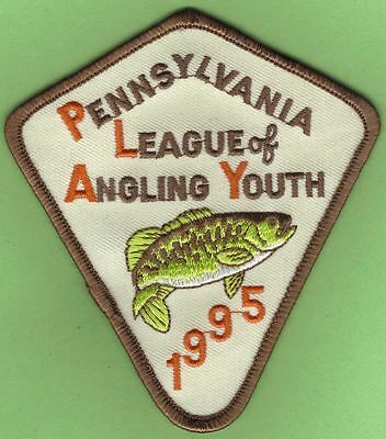Pa Pennsylvania Fish Commission 1995 Smallmouth Bass Youth Fishing PLAY Patch