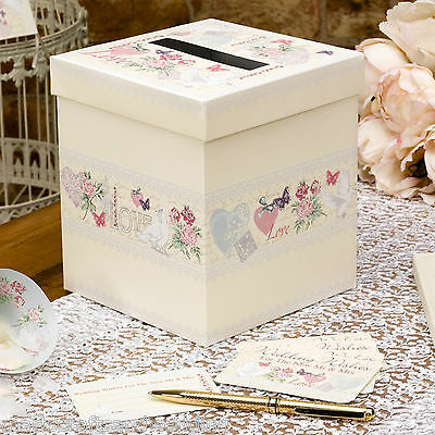 With Love Wedding Wishes Post Box & Message Cards - Alternative to Guest Book