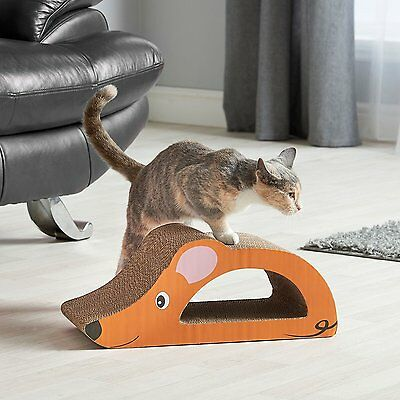 CARDBOARD MOUSE CAT SCRATCHER PAD SCRATCHING PADS KITTEN SCRATCH BOARD 45 x 20cm