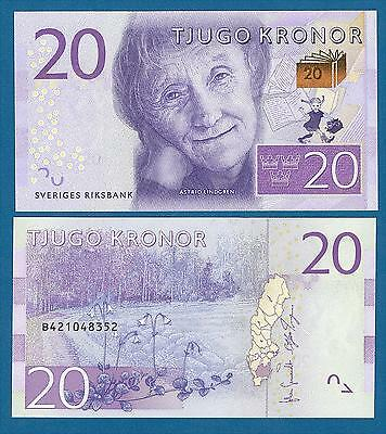 Sweden 20 Kronor P 69 New 2015 UNC Low Shipping! Combine FREE!