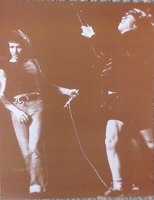 AC/DC on stage in concert Sepia Poster