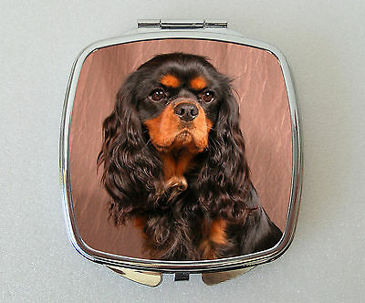 Cavalier King Charles Spaniel Compact Mirror Valentines Mothers Day Gift (B&T)