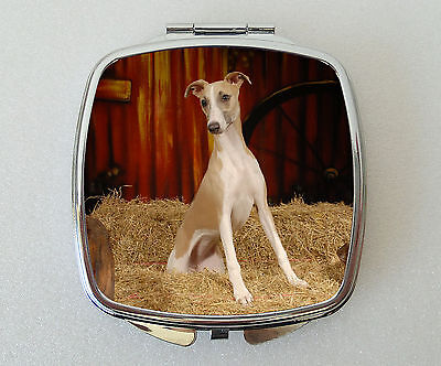 Whippet Dog Compact Mirror Handbag Valentines Mothers Day Novelty Gift