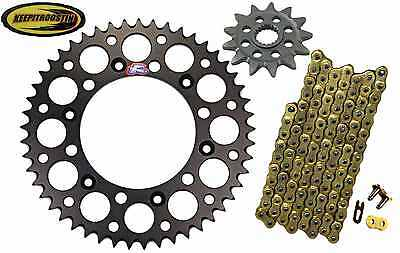 Front and Rear Black Sprocket Gold Chain 13 50 Fits Yamaha Yz250F 2012-2016