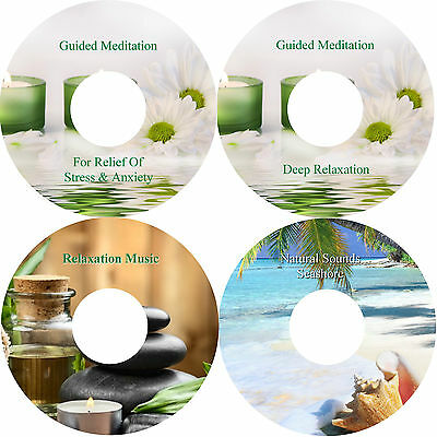 Guided Meditation Stress Anxiety Relief Deep Relaxation & Music & Seashore 4 CD