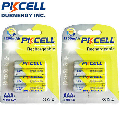 8pcs/2cards NiMh AAA Batteries 1200mAh 1.2V NI-MH 3A Rechargeable Battery