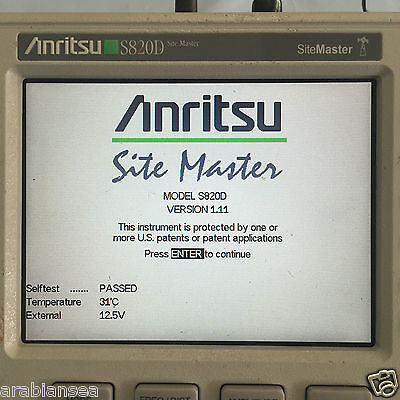Anritsu S820D Site Master Broadband Cable & Antenna Analyzer. 25 MHz to 20Ghz