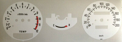 Yamaha Rd250Lc Rd350Lc Speedometer + Tachometer Face Restoration Decals White 2