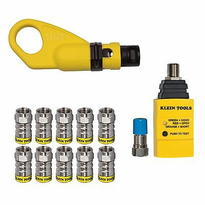 Klein Tools VDV002-820 Coax Push-On Connector Installation & Test Kit
