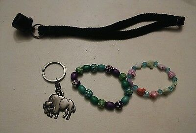 000 Bracelet Key Chain Junk Drawer Grab Bag Lot Buffalo , Lanyard