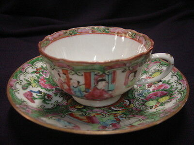 Chinese Rose Medallion Cup and Saucer