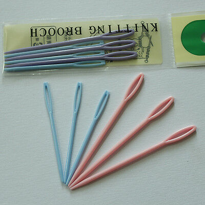 6X 7/9cm Child Plastic Sewing Cross Stitch Seamed Knitting Wool Weave Needle New