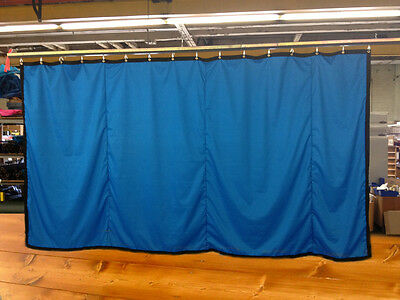 Royal Blue Curtain/Stage Backdrop/Partition, Non-FR, 9 H x 20 W