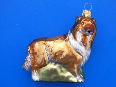 Collie Dog European Blown Glass Christmas Tree Ornament Decoration Hunde