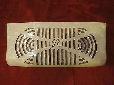 Rivoli Accordion Part - Grill, White Celluloid, Ligh Brown Mesh
