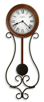 Howard Miller Wrought Iron With Pendulum Wall Clock 625-400 Yvonne