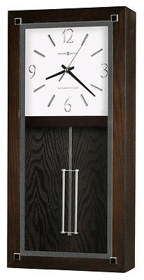 Howard Miller Black Finish,Pendulum, Chiming Wall Clock 625-595 Reese
