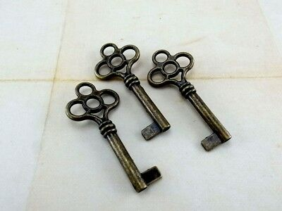 (Lot of 3) Vintage Style Open Barrel Skeleton Key Furniture Cabinet - NEW
