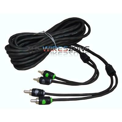 Raptor R5RCA20 Pro Series 2-Channel Visible Dual Twist 20' Feet Audio RCA Cable