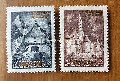EBS Croatia Hrvatska NDH 1941 Golden Overprints set Michel No 39-40 MNH** cv €50