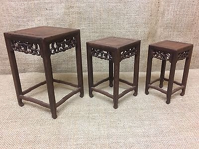 Wooden Bonsai Display Stands Nest Of 3