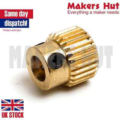 3D Printer Extruder Drive Gear for 1.75mm & 3mm - Brass Pulley 5mm 40 Teeth