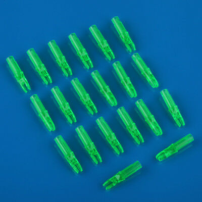 20pcs Hunting nock Arrow Archery Green Plastic nocks 6.2mm for carbon arrow
