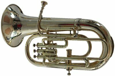 Bb/F 4 Valve Euphonium New Brass FINISH With Free Hard Case+Mouthpiece Valueable
