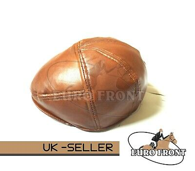 New100% Real Leather Flat Cap Stylish Top Quality For Man,woman&Children